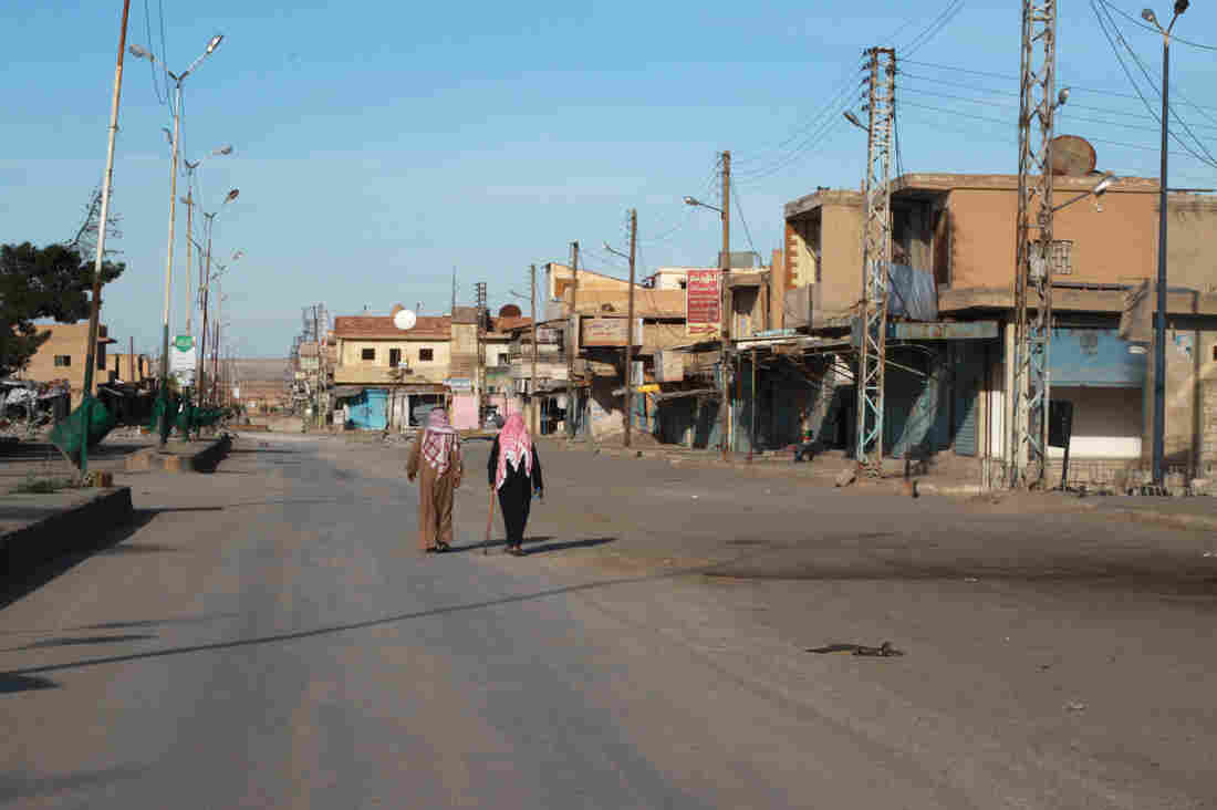 U.S.-backed forces recently pushed out the Islamic State in the northeastern Syrian town of Shadadi. They now face the challenge of running the town. So far, few people have been allowed back to amid fears that ISIS infiltrators could return.