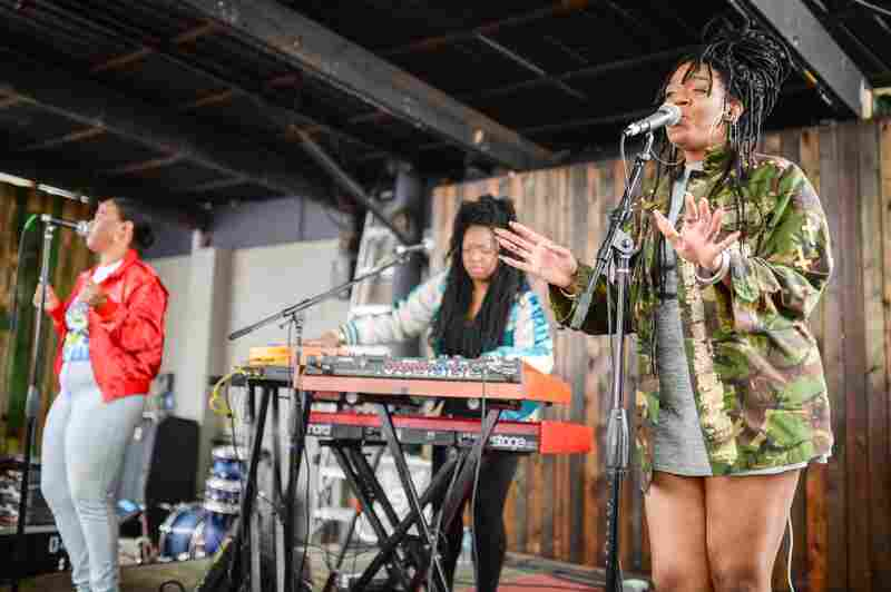 R&B trio KING lived up to its name at Barracuda.