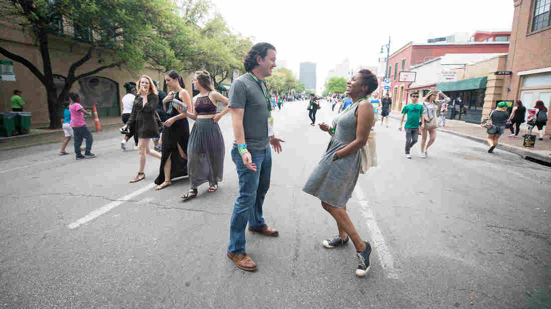 All Things Considered host Audie Cornish and NPR Music's Stephen Thompson explore Austin during the 30th South By Southwest festival.