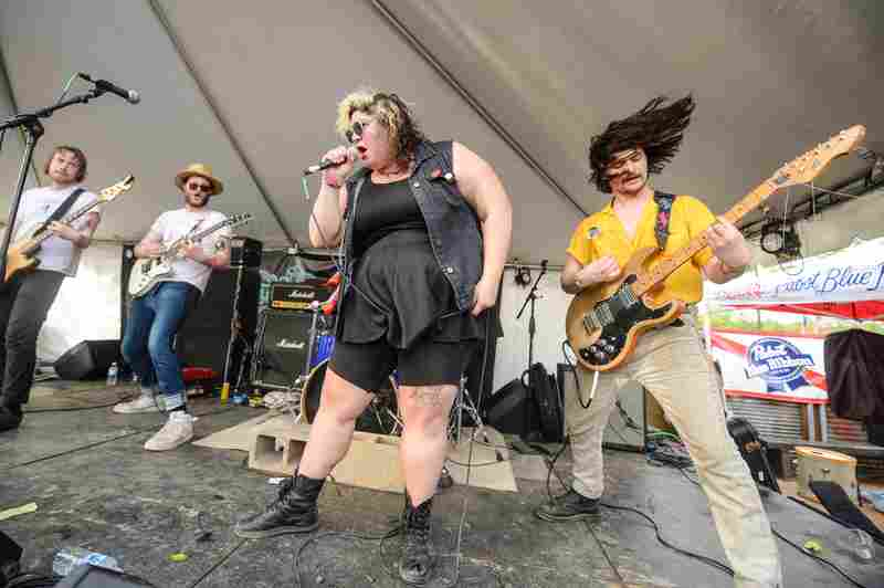 Sheer Mag's Christina Halladay owned the stage at Hotel Vegas in East Austin.