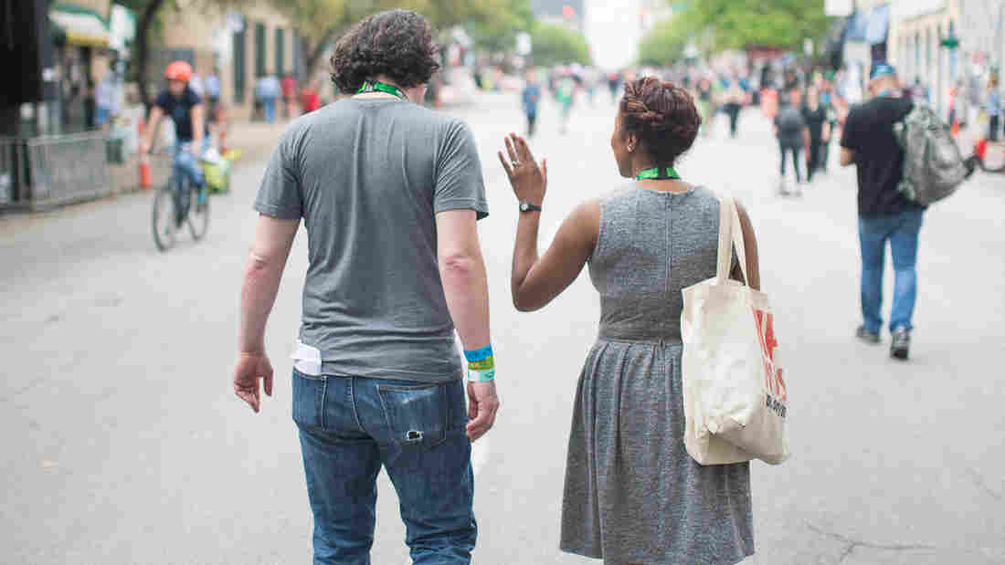 Audie Cornish and Stephen Thompson on the streets of Austin, TX during South by Southwest.