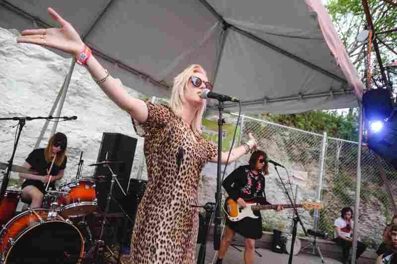 White Lung's Mish Way led us in a frenetic punk service at Cheer Up Charlie's.