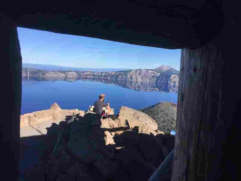 Trevor Kemp at Crater Lake, park #19.