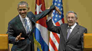 Obama And Castro Share An Awkward Handshake In Cuba After Historic Meeting