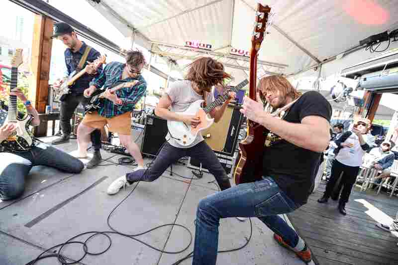 It's not a party without four guitars raised in rock salute. Diarrhea Planet played Little Woodrow's way ahead of the band's new album, Turn To Gold, which is out in June.