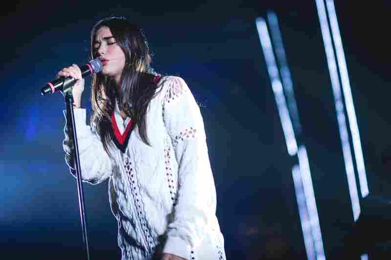English-Albanian singer Dua Lipa hypnotized at her Hype Hotel show.