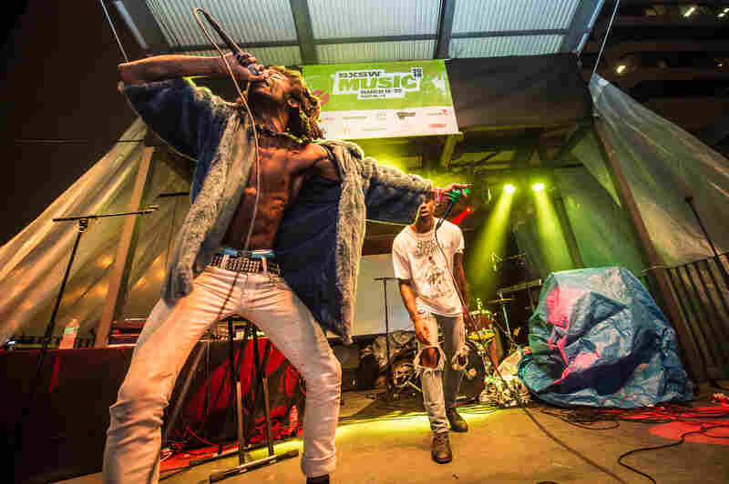 Culling from punk and noise, the L.A.-based hip-hop group Ho99o9 stirred the Belmont into a frenzy.