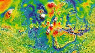 Look Map Of Mars Gravity Illuminates Planet S Interior