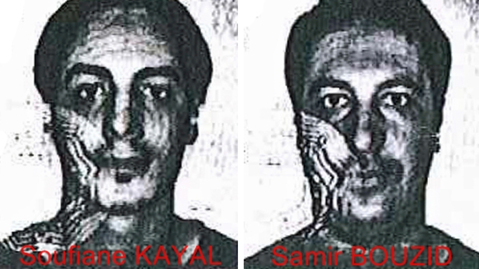 Using fake identity cards, Laachroui Najim posed as Soufiane Kayal (left), and Mohamed Belkaid posed as Samir Bouzid when they worked with arrested terrorism suspect Salah Abdeslam, police in Belgium say. They're seen here in handout photos from the Belgian police that were released on Dec. 4. (Belgian Police via AP)