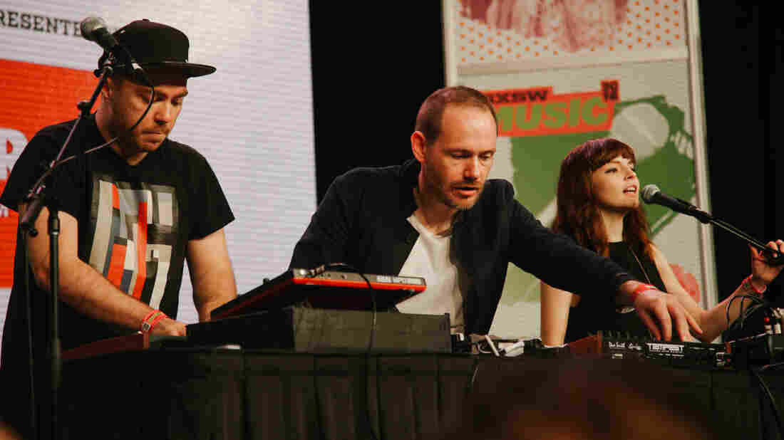 Chvrches performs at the SXSW 2016 Radio Day Stage.