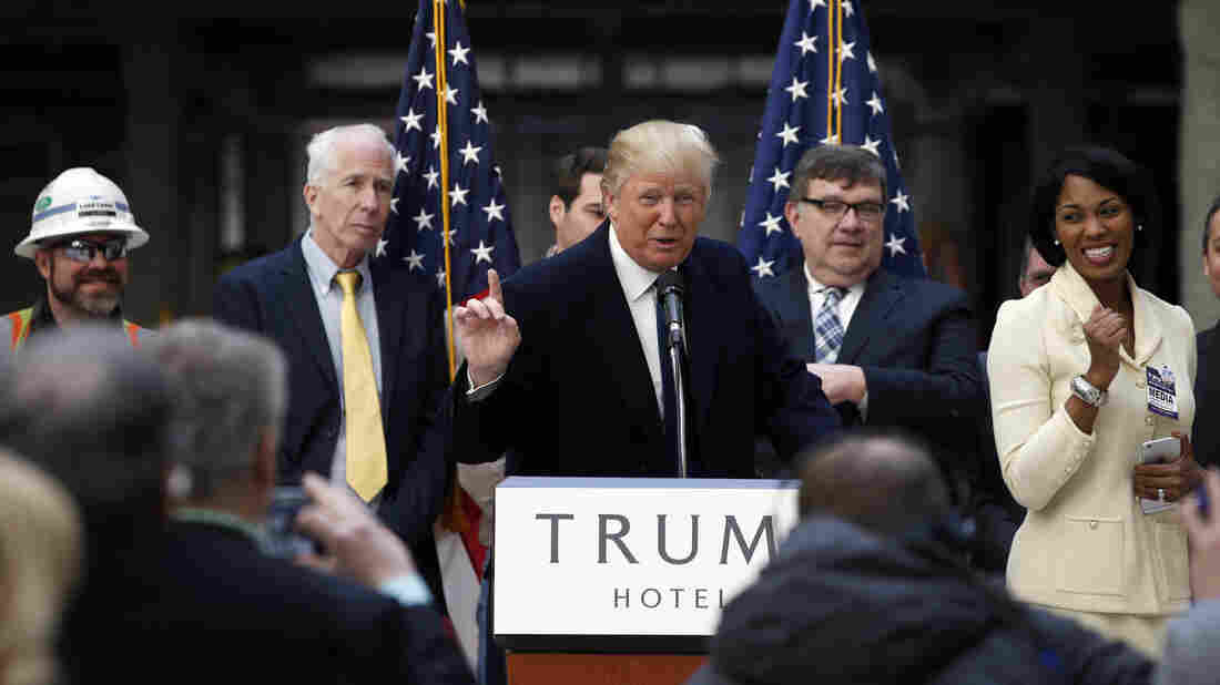 Republican presidential candidate Donald Trump speaking in Washington, D.C., earlier this week.