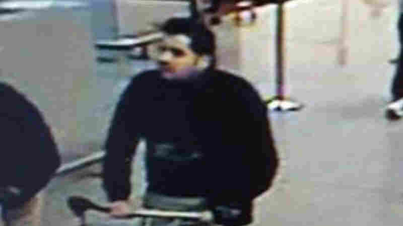 This image provided by the Belgian Federal Police shows a man at Belgium's Zaventem airport whom officials have identified as Ibrahim el Bakraoui. A Belgian prosecutor named him as a suspected suicide bomber in Tuesday's attack on the airport.