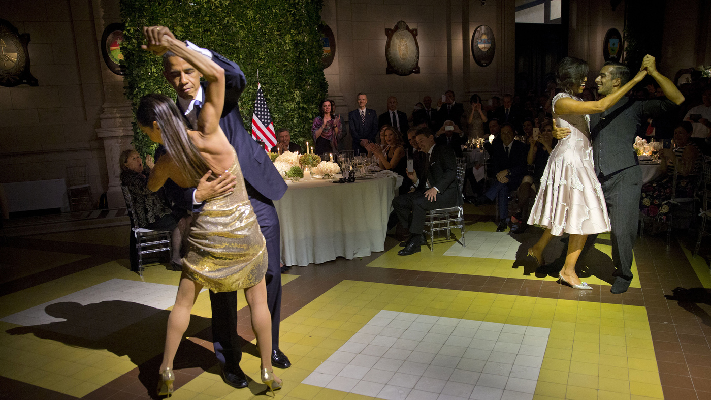 WATCH: Obama Dances The Tango During State Dinner In Argentina : The
