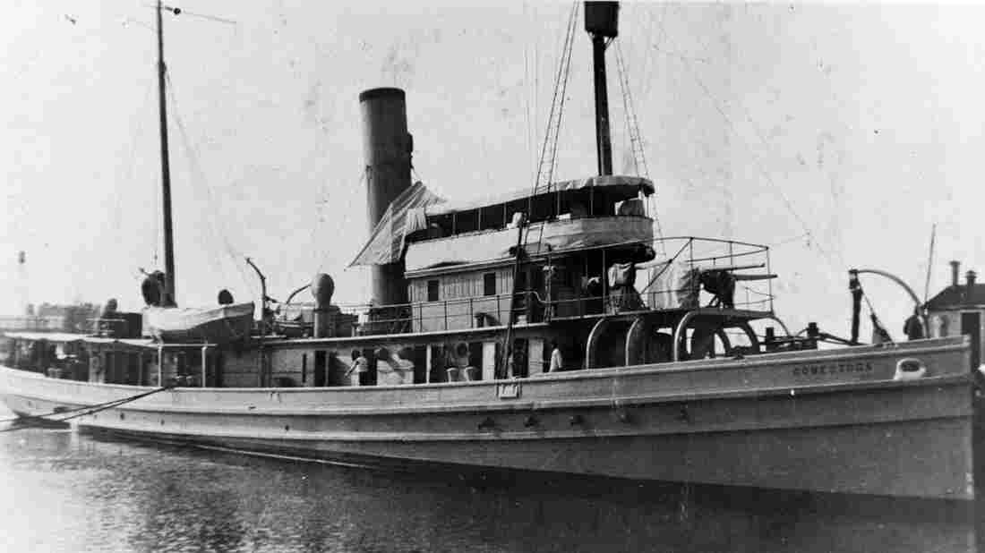 In this image provided by the U.S. Naval History and Heritage Command, the USS Conestoga is seen in San Diego, Calif, circa early 1921. The tugboat has been found after disappearing nearly a century ago.