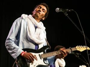 Bombino performs at SXSW 2016 on the Radio Day Stage