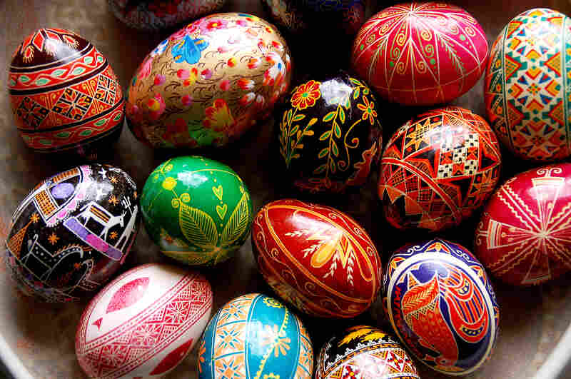 "Ukrainians have been crafting pysanky, elaborately decorated eggs, for thousands of years. ""There's an ancient legend that as long as pysanky are made, evil will not prevail in the world,"" says one pysanky artist."