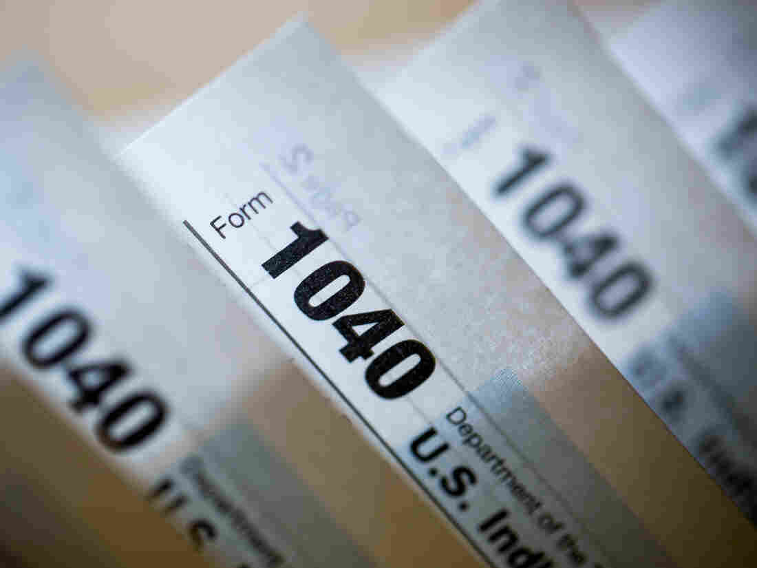 U.S. Department of the Treasury Internal Revenue Service 1040 Individual Income Tax forms for the 2015 tax year.
