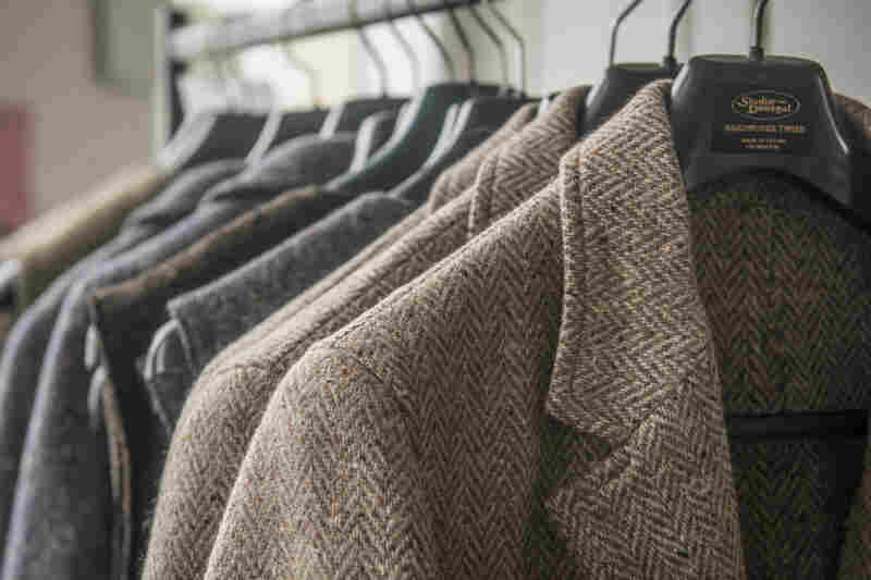 Tweed jackets hand-loomed at Studio Donegal in northwest Ireland.