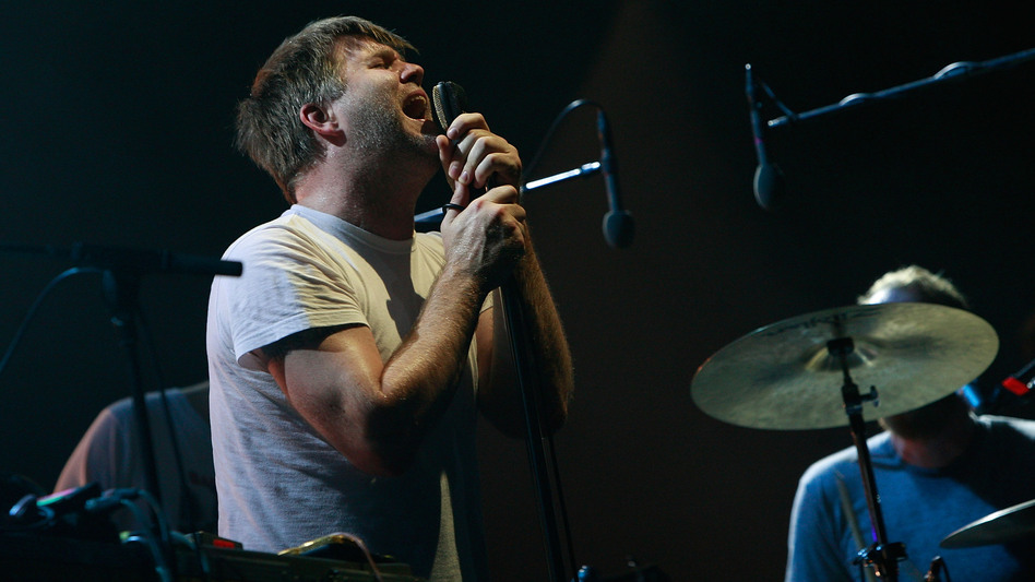 James Murphy of LCD Soundsystem performs on stage during the Pentaport Rock Festival in 2010 in Incheon, South Korea. (Getty Images)
