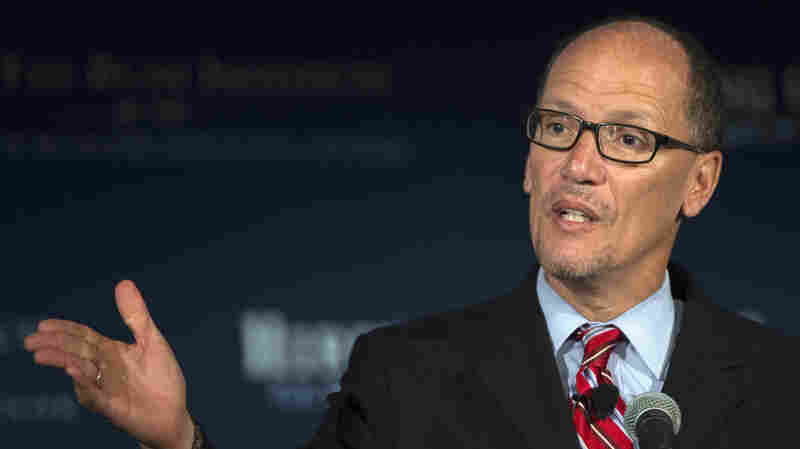 """Labor Secretary Thomas Perez, pictured in 2015, says, """"If you get hurt on [the] job, you still should be able to put food on the table, and these laws are really undermining that basic bargain."""""""
