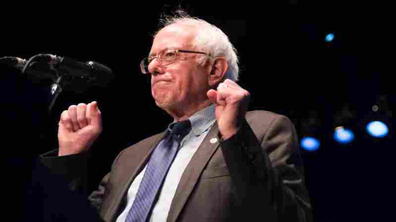 Vermont Sen. Bernie Sanders speaks at a campaign rally on March 23 in Los Angeles.
