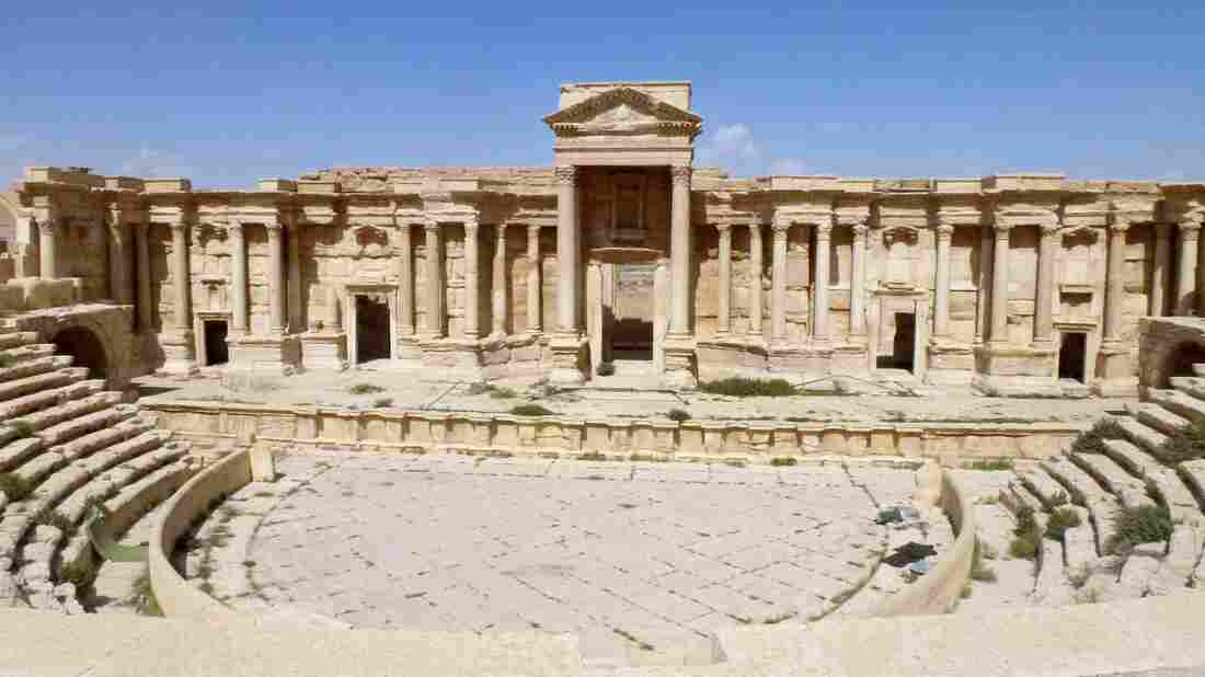 A view of the theater in Palmyra after the city was retaken by government troops.