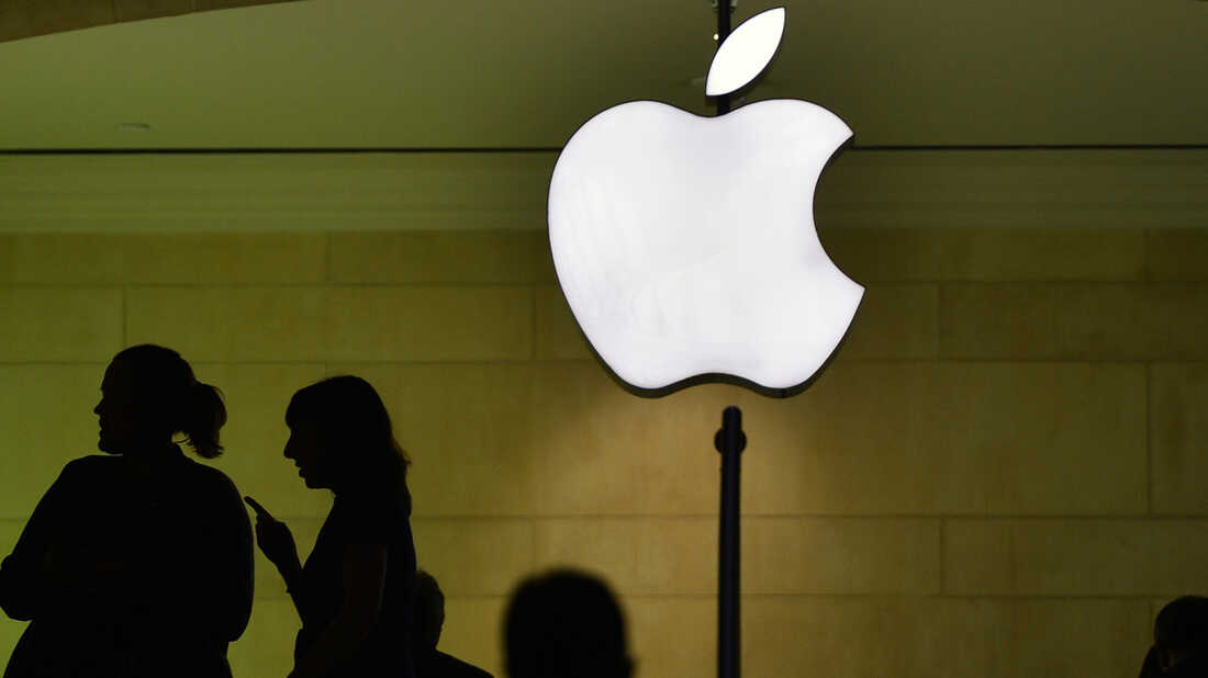 Customers visit the Apple store at Grand Central Terminal in New York on March 1.