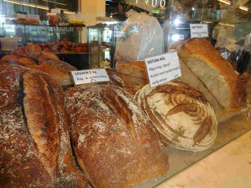 Bread for sale at the airport location of RC Chocolat in Stockholm. For about three years, this bakery has been quietly offering travelers the peace of mind that comes with leaving their precious sourdough starter in the hands of qualified professionals.