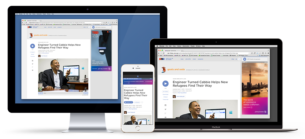 The redesigned NPR.org audio player integrates innovative sponsorship units including Supported Selections, Supported Podcasts and Mobile Audio Sponsorship.