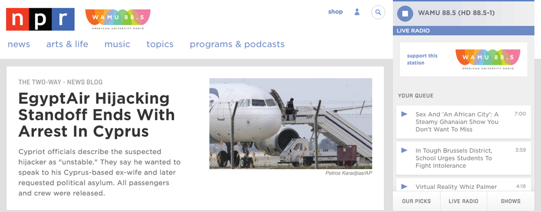 At right, the new NPR.org audio player.