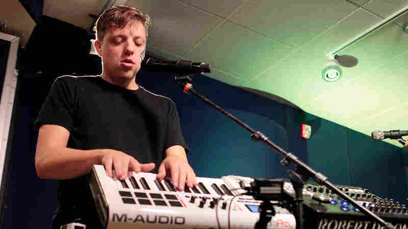 Robert DeLong performs live for KCRW.