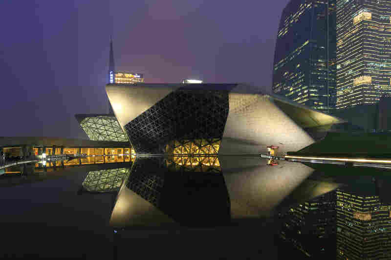 Guangzhou Opera House in Guangzhou, China, was designed by Zaha Hadid, a Pritzker-winning architect. Hadid died at 65.