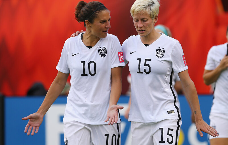 5abb9bde9 Enlarge this image. Carli Lloyd (left) and Megan Rapinoe are two of the five  star players who ...