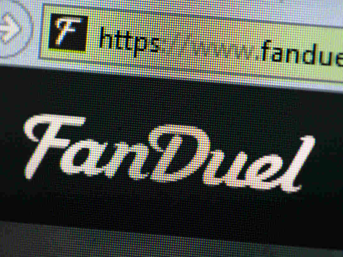 The logo for FanDuel, which is one of the two major daily fantasy sports companies, along with DraftKings.