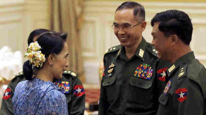 Myanmar Gets Civilian Leaders, But The Generals Keep Close Watch