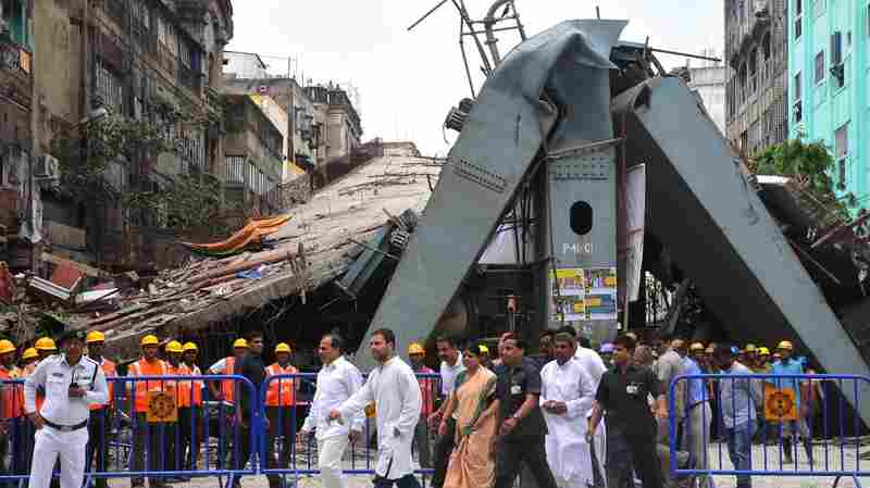 After Overpass Collapse in Kolkata, Firm Charged With Culpable Homicide