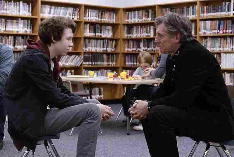 Jesse Eisenberg and Gabriel Byrne in Louder Than Bombs.