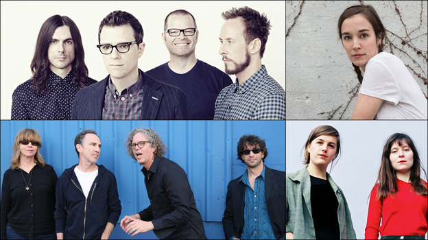Clockwise from upper left: Weezer, Margaret Glaspy, Oh Pep!, The Jayhawks (Courtesy of the artists)