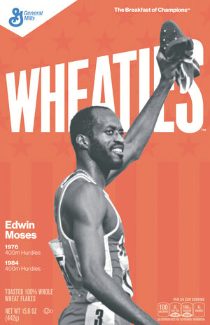 Edwin Moses was a three-time world champion in the 400-meter hurdles.