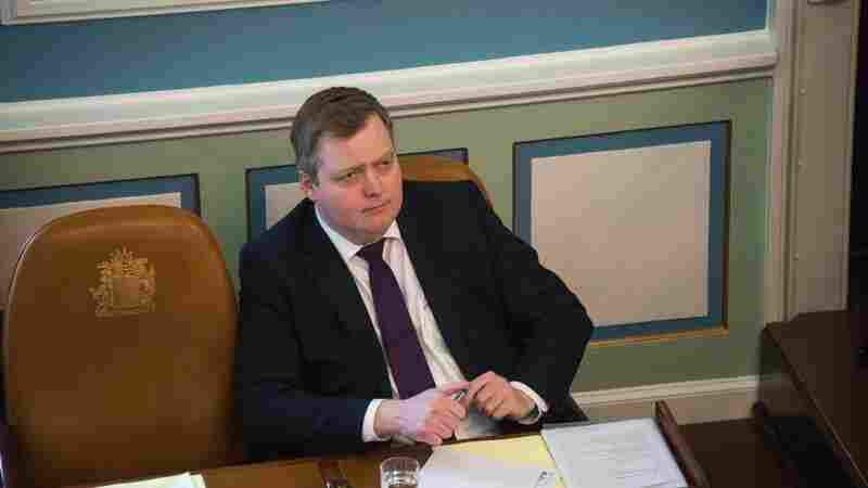 Icelandic Prime Minister Sigmundur David Gunnlaugsson attends a session of Parliament in the country's capital city, Reykjavik, on Monday.