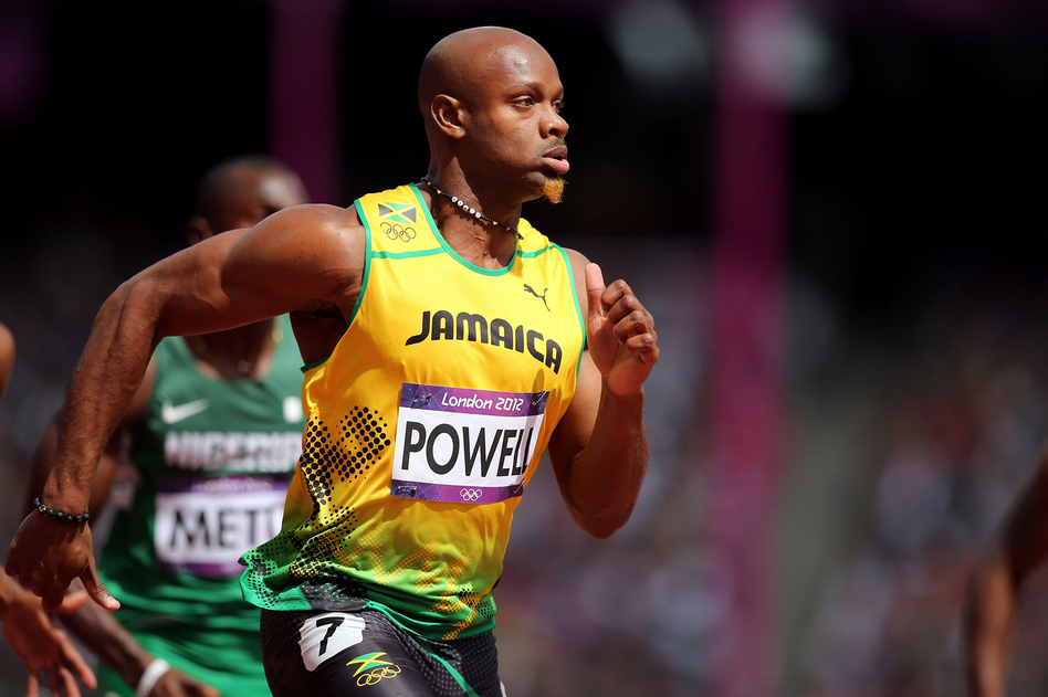 Asafa Powell of Jamaica was barred from competition after testing positive for the stimulant oxilofrine. (Streeter Lecka/Getty Images)