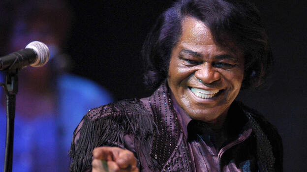 James Brown performs at the Philharmonie in Cologne, Germany in 2003. (AFP/Getty Images)