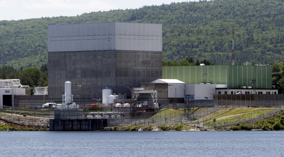 The Vermont Yankee nuclear power plant sits along the banks of the Connecticut River in Vernon, Vt. It began operations in 1972 and was shut down at the end of 2014, the victim of competition from plants powered by abundant and cheap natural gas. (Toby Talbot/AP)