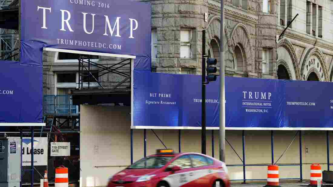 The site of Trump International Hotel, due to open in the fall of 2016 in Washington D.C. Donald Trump's campaign announced he will open a campaign ofice in the city next week.