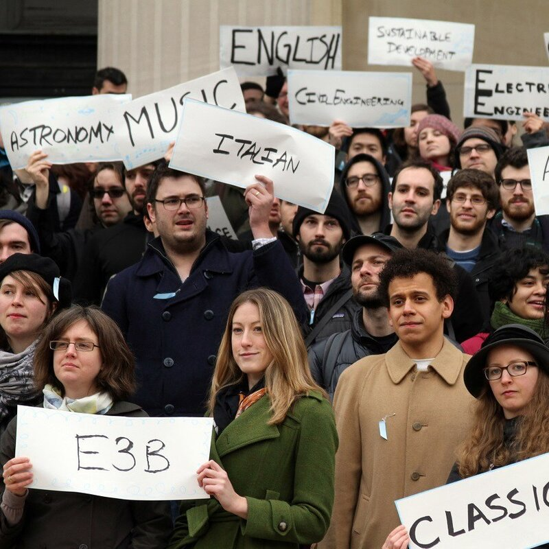 At Yale, Protests Mark A Fight To Recognize Union For Grad