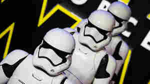Stormtroopers attend the European premiere of Star Wars: The Force Awakens at Leicester Square on Dec. 16 in London.