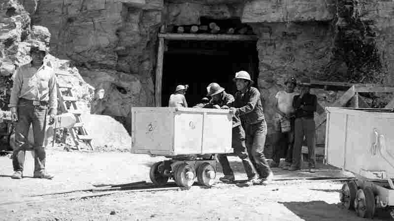 Navajo miners work at the Kerr-McGee uranium mine at Cove, Ariz., on May 7, 1953.
