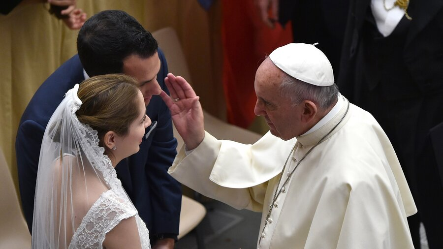 Image result for pope francis married couples