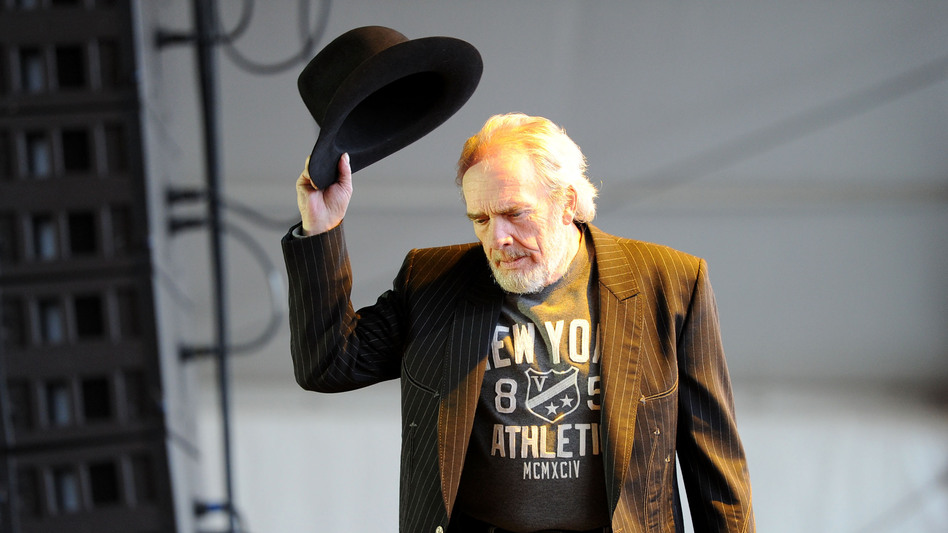 Merle Haggard on stage in California in 2010. Haggard died at 79 on April 6. (Getty Images)