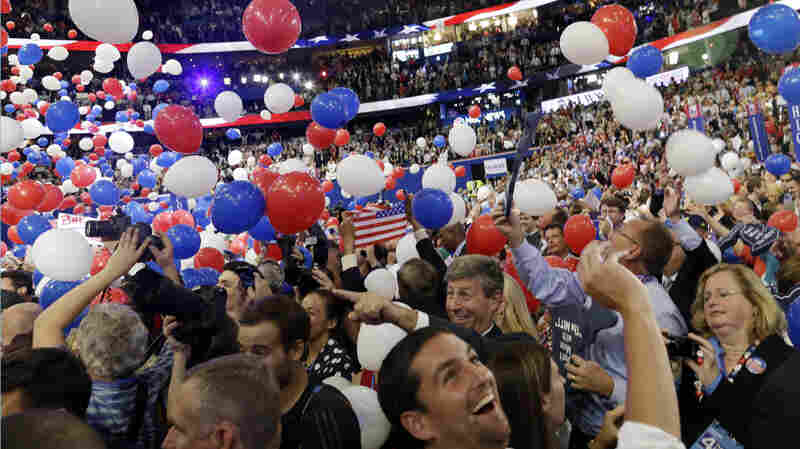 Balloons fall at the 2012 Republican National Convention in Tampa, Fla. This year's convention in Cleveland is likely to be far more complicated.